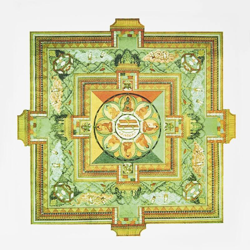 Buddha yantra 18x18cm